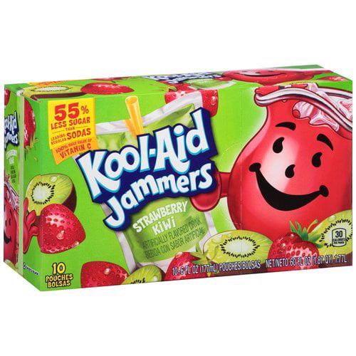 Kool-Aid Jammers Strawberry Kiwi Drink, 6 fl oz, 10 count