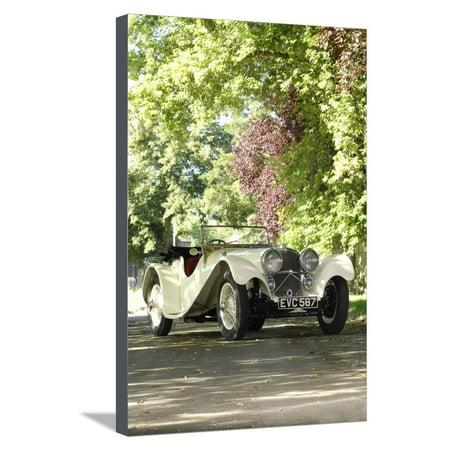 1940 SS100 Jaguar Roadster Stretched Canvas Print Wall Art