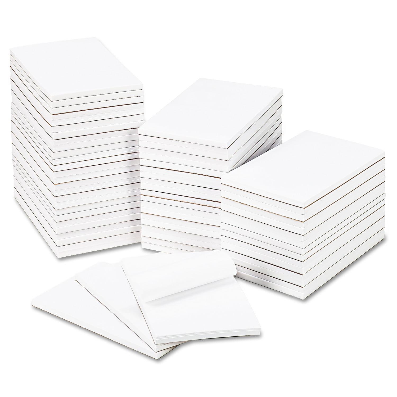 """Universal Bulk Scratch Pads, Unruled, 5"""" x 8"""", White, 100-Sheet Pads, 64 Pads/Carton"""