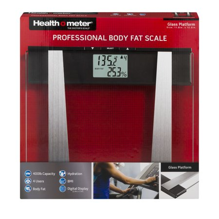Health o meter glass platform professional body fat scale for Professional food scale