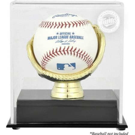Minnesota Twins Gold Glove Single Baseball Logo Display (Baseball Glove Case)