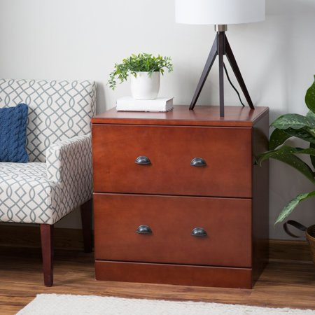 Rich Cherry Wood - Belham Living Cambridge Lateral Wood File Cabinet - Rich Cherry