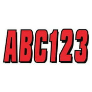 HARDLINE PRODUCTS GREBLK320 Number and Letter Combo Kit,Red,3 in. H