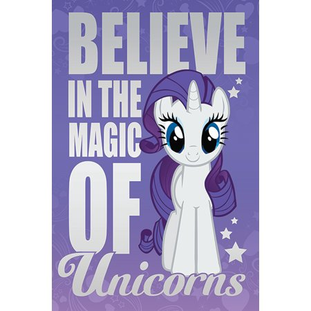 Believe Poster Print - My Little Pony - TV Show Poster / Print (Believe In The Magic Of Unicorns) (Size: 24