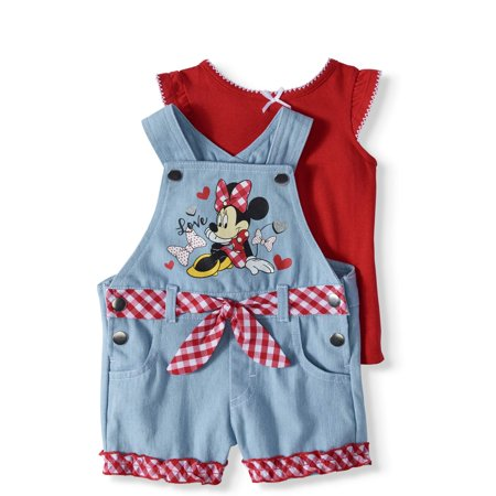 Baby Girls' T-shirt and Shortalls, 2-Piece Outfit Set - Mouse Halloween Outfit