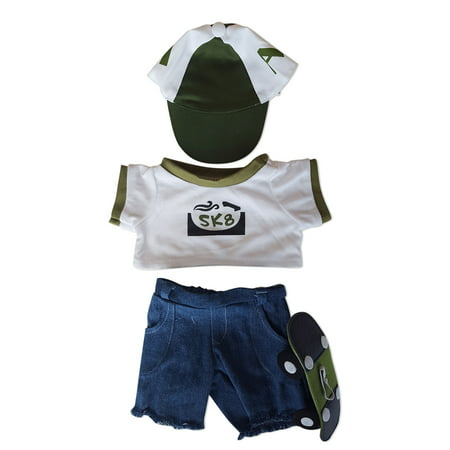 Skateboarder Outfit Teddy Bear Clothes Outfit Fits Most 14