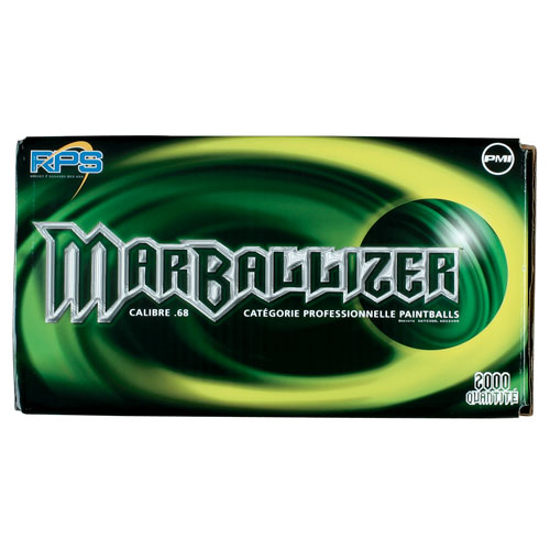 RPS Marballizer Paintballs, 2000ct. Black/Gator Green