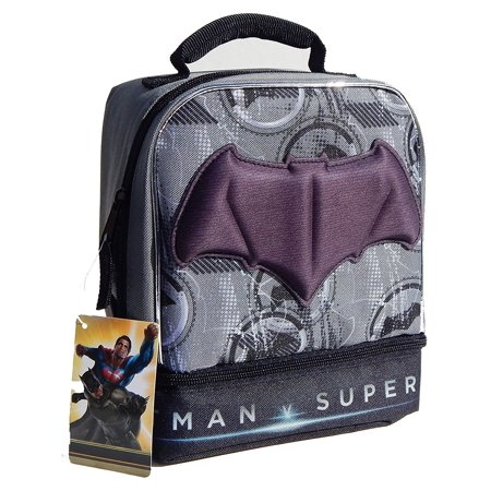 Batman V Superman 2 pouch Lunch Bag by Disney Batman Lunch Box