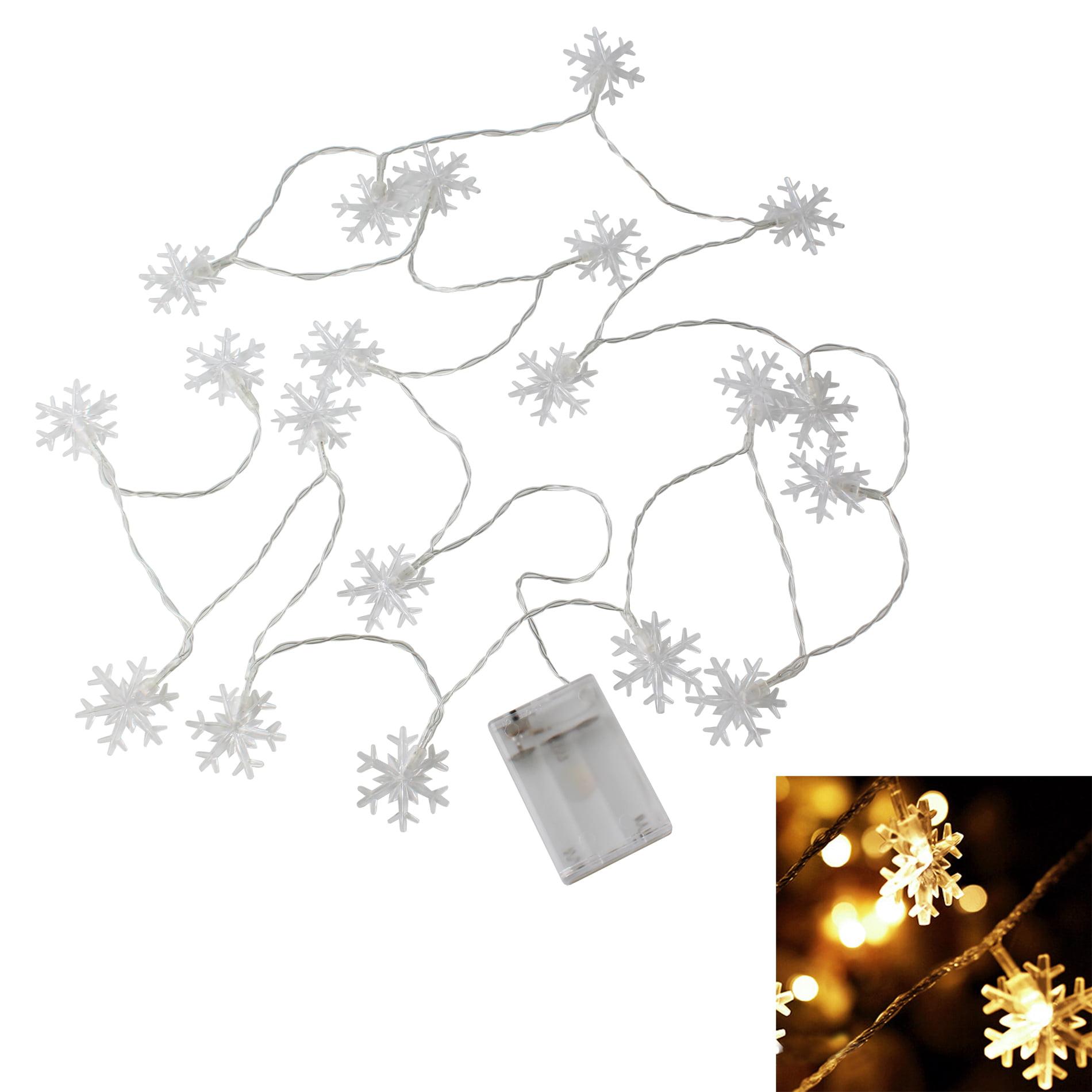 Christmas Tree Windows Snowflake String Light Decoration Ornament