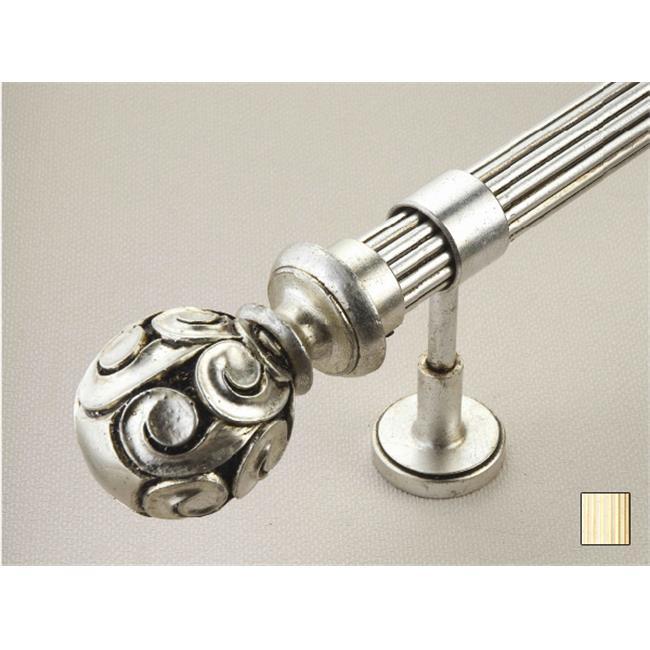 WinarT USA 8. 1071. 45. 12. 280 Palas 1071 Curtain Rod Set - 1. 75 inch - Flash Gold - 110 inch