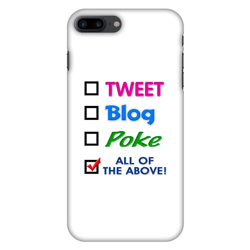 iPhone 7 Plus Designer Case, Premium Handcrafted Printed Designer Hard ShockProof Case Back Cover for iPhone 7 Plus - Tweet, 5.5 Inch iPhone 7, HD Color, Soft Finish