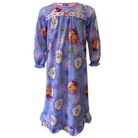 Disney Frozen Anna and Elsa Toddler Nightgown Size 2T (Elsa Frozen Gown)
