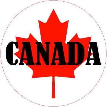 4x4 labeled round canada flag sticker vinyl vehicle decal travel stickers