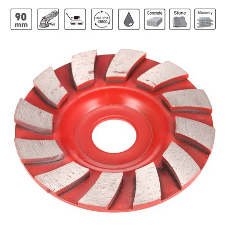 """90mm 3.5"""" Diamond Segment Grinding Wheel Fan Shape Grinder Cup 20mm Inner Hole Concrete Granite Masonry Stone Ceramics Terrazzo Marble Grind Disc for Building Industry - image 2 of 7"""