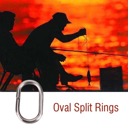 Zerone Fishing Rings,100Pcs Stainless Steel Oval Split Rings Swivel Snap Carp Fishing Tackle Connector