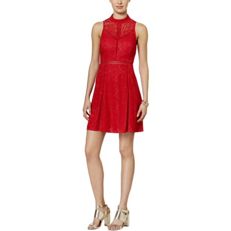 Nylon Eyelet - Guess Womens Lace Eyelet Cocktail Dress