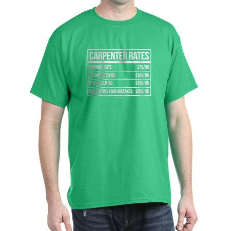 943215b24 CafePress - CafePress - Funny Carpenter Rates T Shirt - 100% Cotton T-Shirt  - Walmart.com