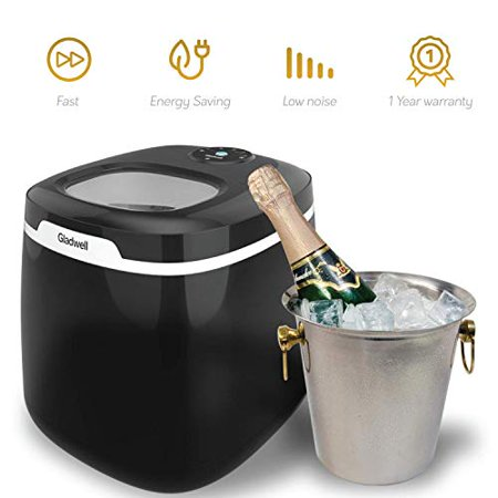 Gladwell Countertop Ice Maker Machine, 50 lb. Daily Capacity - Jet