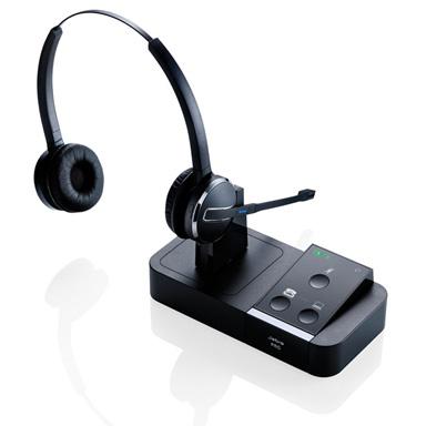 Jabra Pro 9450 Duo Flex Boom Wireless Headset for Desk Phone and Softphone by GN Netcom