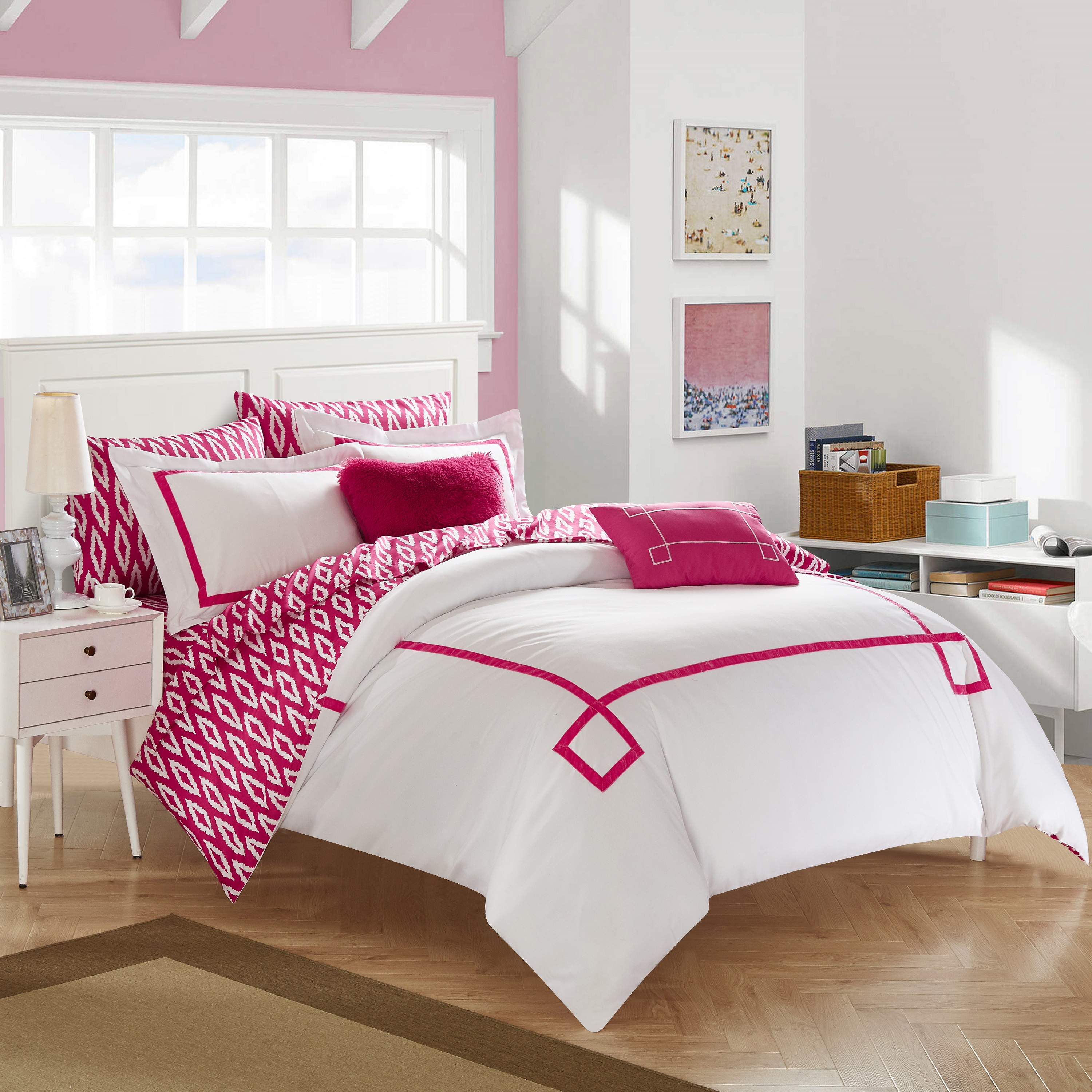 Chic Home Edrea Reversible Bed in a Bag Comforter Set
