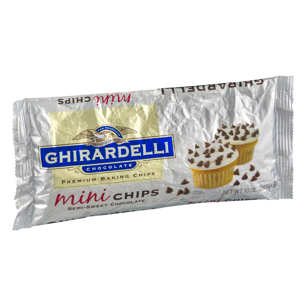 Ghirardelli Chocolate Premium Baking Chips Mini Chips Semi-Sweet ...