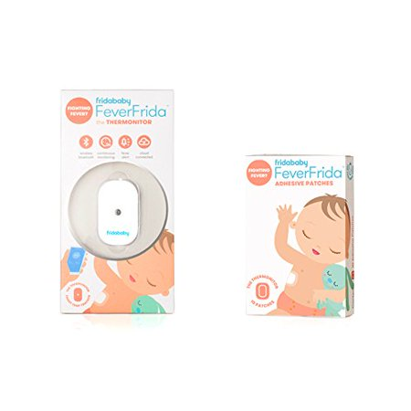 FridaBaby FeverFrida Thermometer plus 10 Replacement Adhesive Patches