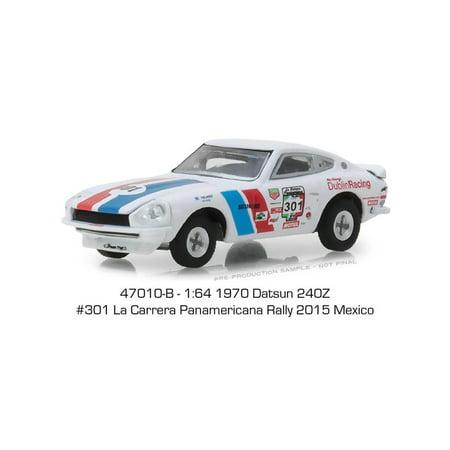 301 Series - GREENLIGHT 1:64 TOKYO TORQUE SERIES 3 - 1970 DATSUN 240Z #301 LA CARRERA PANAMERICANA RALLY 2015 MEXICO 47010-B