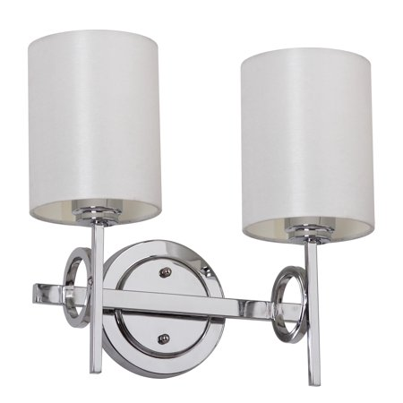 Double Bath Sconce (Safavieh Ventura Chrome 13.25 in. High Double Light Sconce, Chrome)