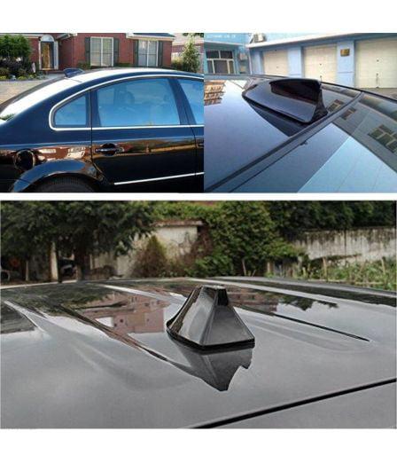 2019 Hot Shark Fin Antenna Stereo Cover Car Signal Radio AM// FM Aerial Black