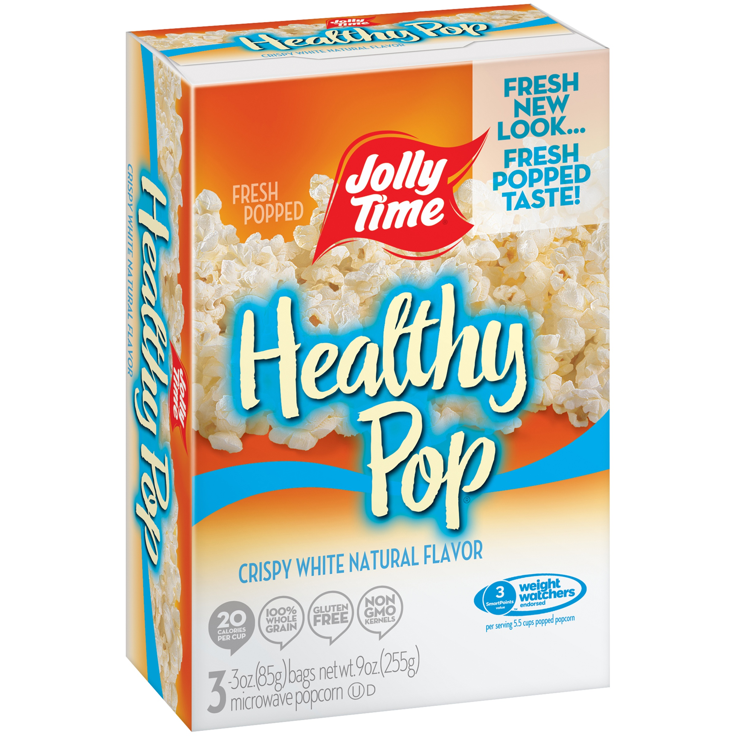 Jolly Time® Healthy Pop® Crispy White Microwave Popcorn 3-3 oz. Bags