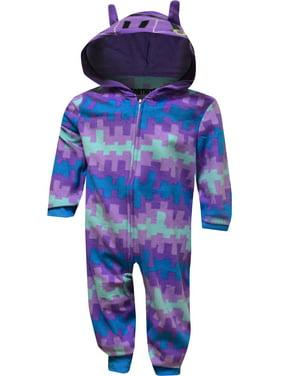 AME Sleepwear Boys' Fortnite Loot Llama Fleece Blanket Sleeper Pajama
