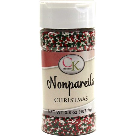 CK Products 78-520X Christmas Blend Non Pariels Cake Decorating Topper, 3.2 oz, Red/White/Green ()