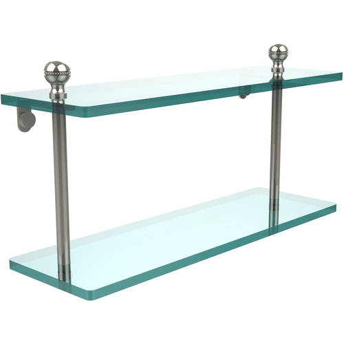 "Mambo Collection 16"" 2-Tiered Glass Shelf (Build to Order)"