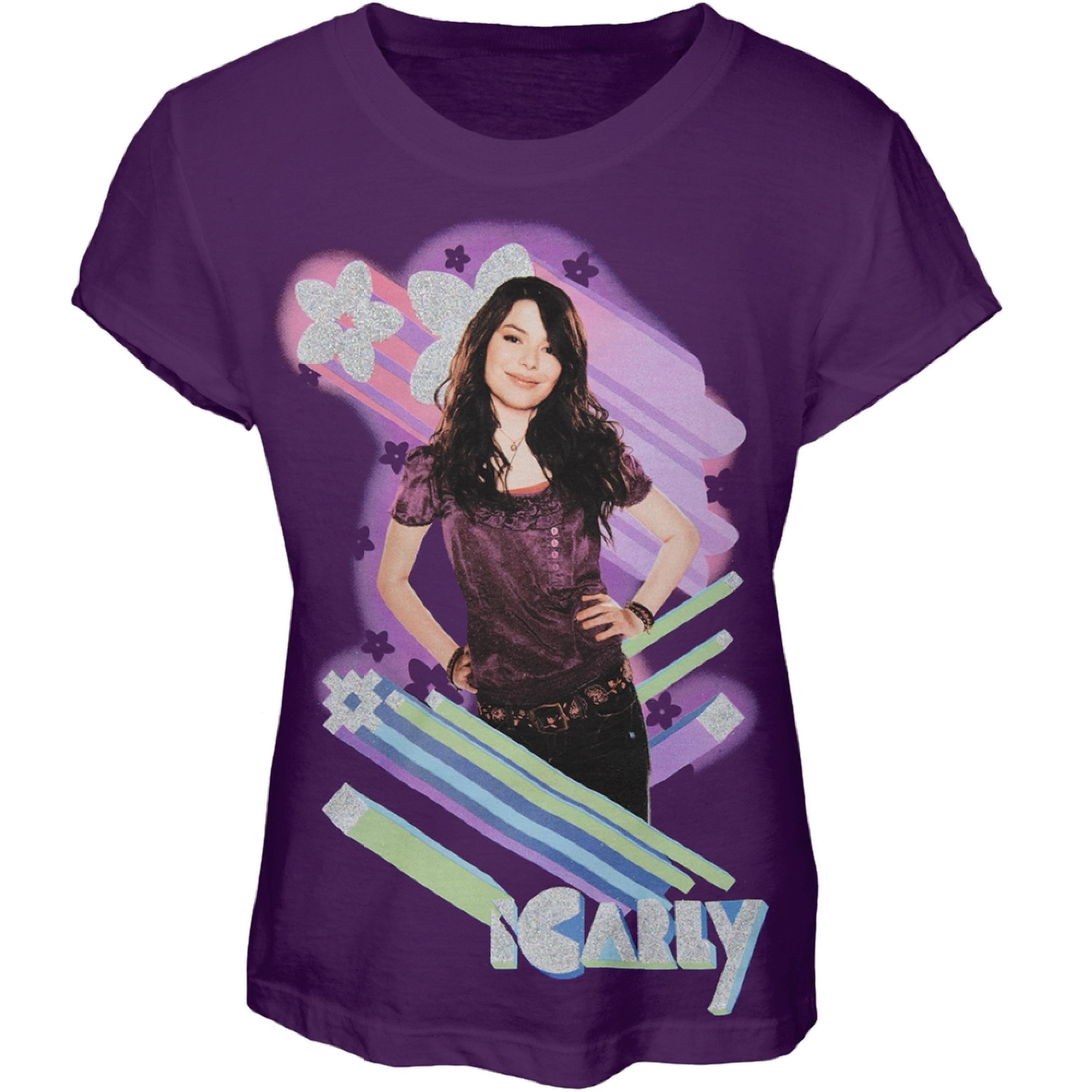 iCarly - Glitter Zoom Girls Youth T-Shirt
