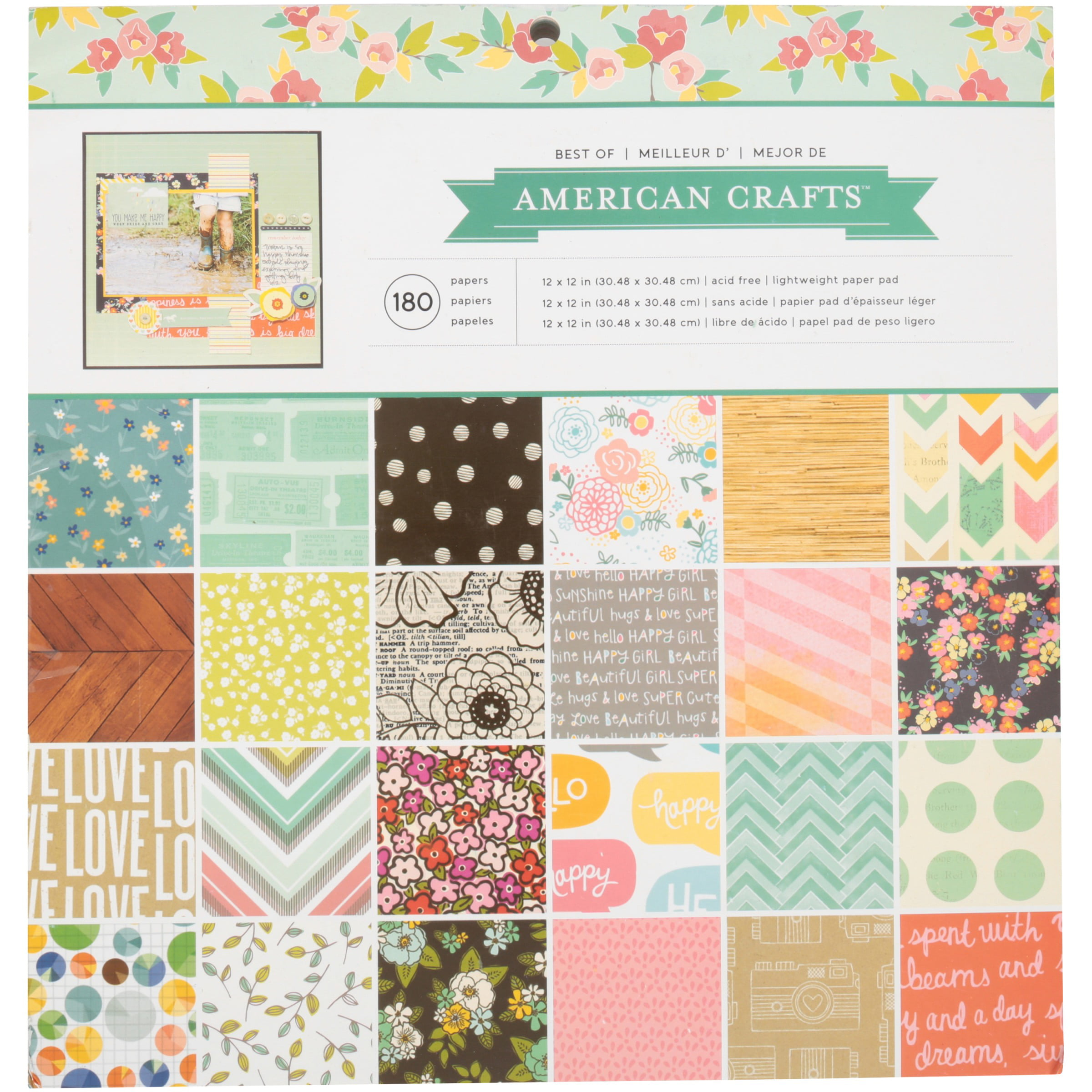 American crafts craft paper 180 ct pack walmart jeuxipadfo Image collections