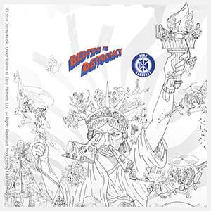DEAD KENNEDYS, Bedtime For Democracy STICKER - Original Album Artwork DECAL, 4