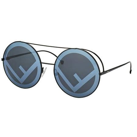 Fendi FF0285S 0807 Black Round (Fendi Sunglasses Sale)