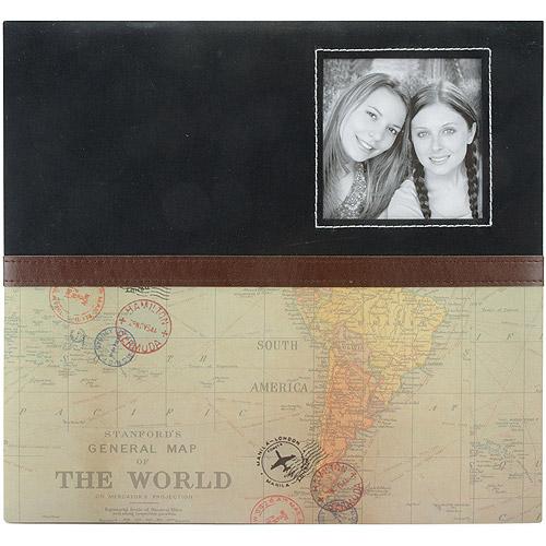 Travel Post Bound Album W/Window 12 Inch X 12 Inch-