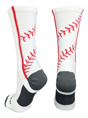 f705d9ac08a Product Image Baseball Socks with Stitches in Crew Length (White Red
