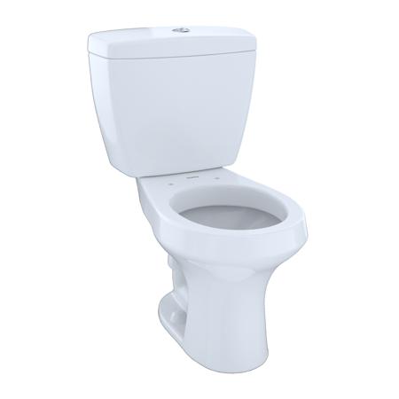 TOTO® Rowan™ Two-Piece Round Dual-Max®, Dual Flush 1.6 and 1.0 GPF Universal Height Toilet, Cotton White - (Water Ridge 2 Piece Dual Flush Toilet)