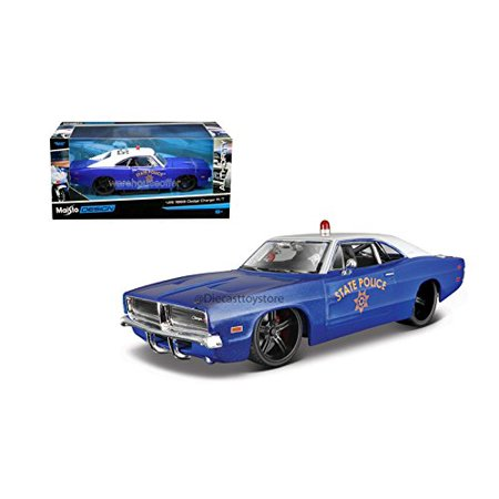 1969 Dodge Charger R/T State Police Diecast Vehicle, True-to-scale detail  By (1969 Dodge Charger Rt For Sale Cheap)