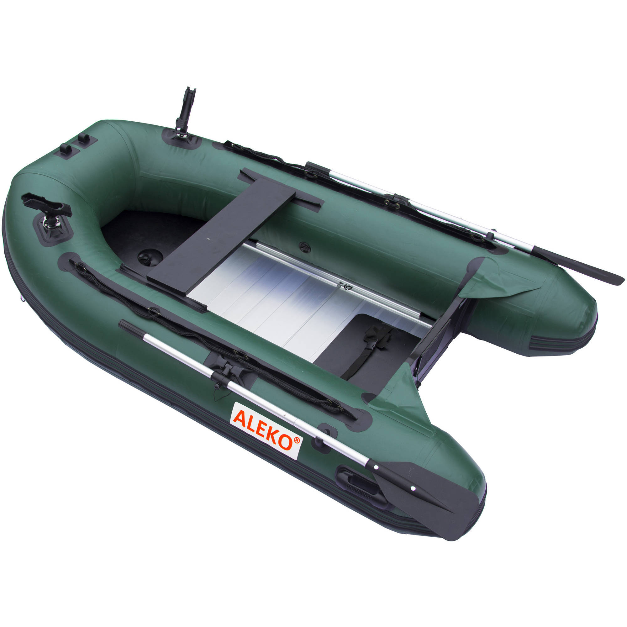 "ALEKO BTF250RBK Inflatable Boat 8'4"" with Aluminum Floor 3-Person Raft Fishing PRO Boat 250CM, Red and Black"