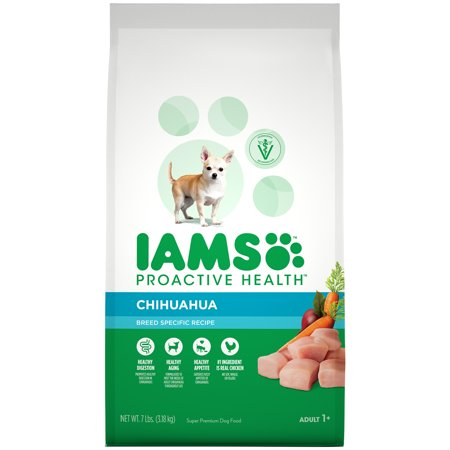 Iams Proactive Health Adult Chihuahua Dry Dog Food, Chicken Flavor, 7 Pound Bag](Pound Dog)