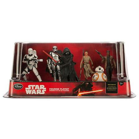 The Force Awakens PVC Figure Play Set Flametrooper, Phasma, Kylo Ren, Rey, BB-8 & Finn