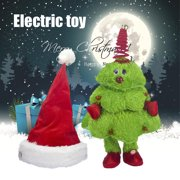 Singing And Dancing Christmas Tree/Moving Christmas Hat Electric Children's Toy Kids Toys,Christmas Present (Battery Free), Christmas tree