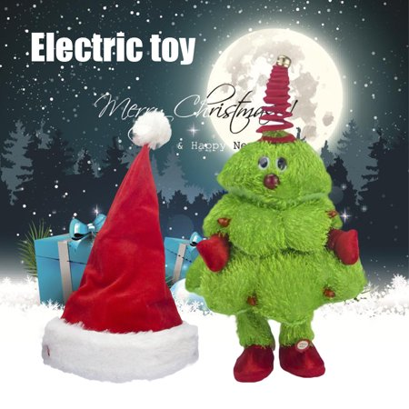 Singing And Dancing Christmas Tree/Moving Christmas Hat Electric Children's Toy Kids Toys,Christmas Present (Battery Free), Christmas tree ()