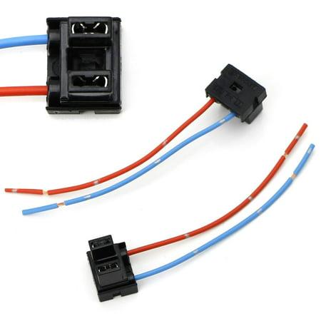 iJDMTOY (2) OEM H7 Adapters Wiring Harness Sockets w/ 4