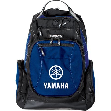 FACTORY EFFEX-APPAREL Yamaha Backpack Block (Multi Black/Blue - Backpack Decorations