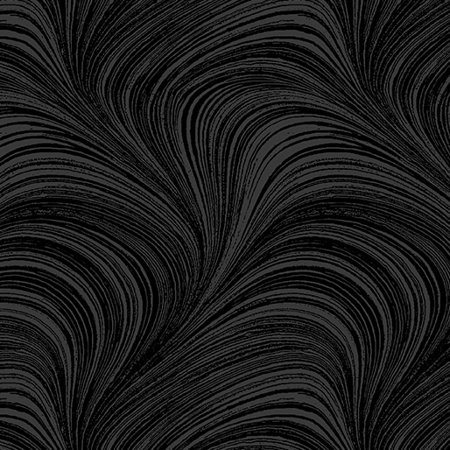 A Festive Season 2~Wave Texture Black Cotton Fabric by - Benartex Quilt Fabric