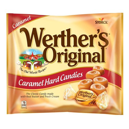 WERTHER'S ORIGINAL Caramel Hard Candies, 9 Ounce Bag, Hard Candy, Individually Wrapped Candy Caramels, Caramel Candy Sweets, Bag of Candy - Sharing Size](Werther's Hard Candy)